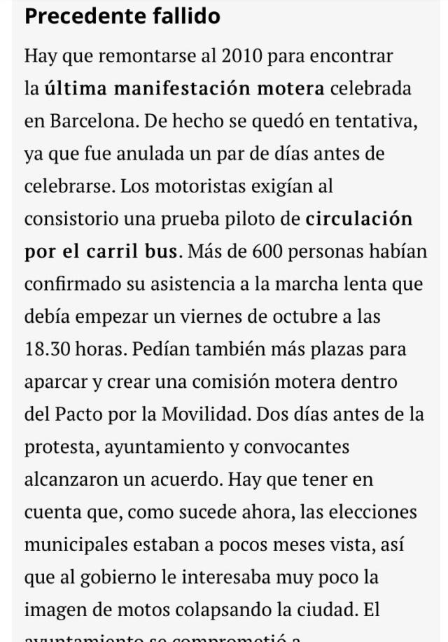 Manifestacion contra la prohibicion de motos en Barcelona  E4369110