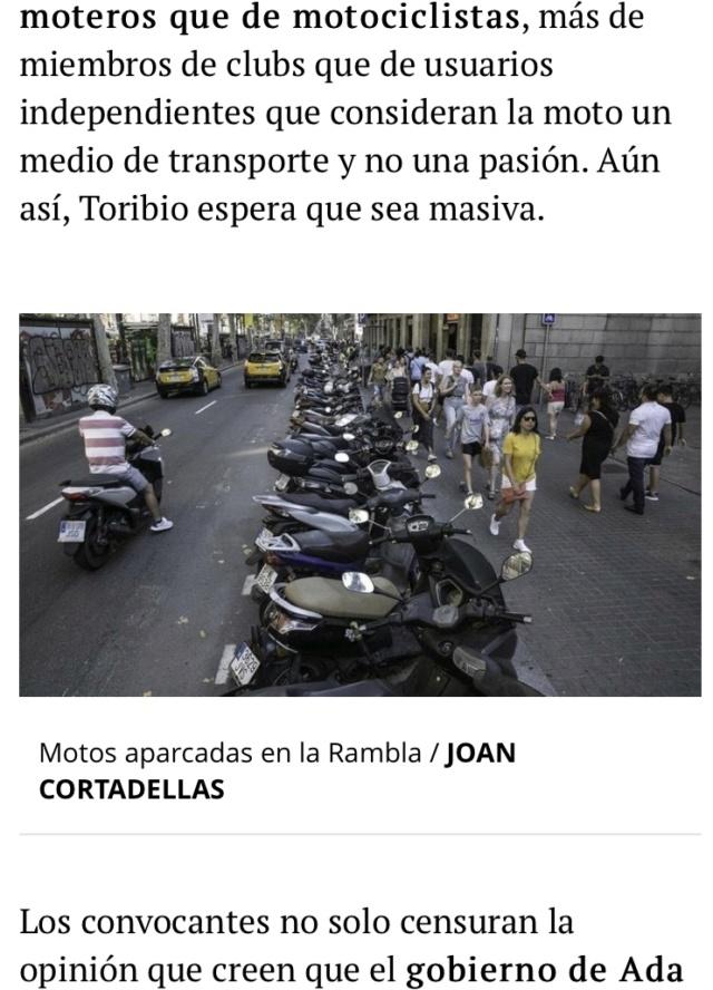 Manifestacion contra la prohibicion de motos en Barcelona  Ebcbcf10