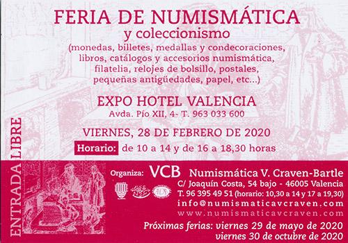 CONVENCIÓN NUMISMÁTICA VALENCIA 28 FEBRERO 2020 Fira10
