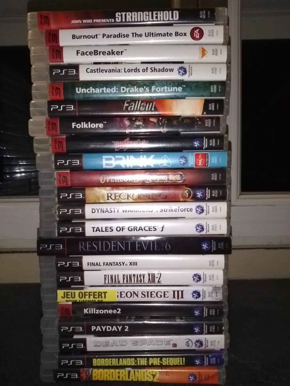 Grosse estimation avant vente 2 PS3 +138 jeux et accessoires (photo) 215