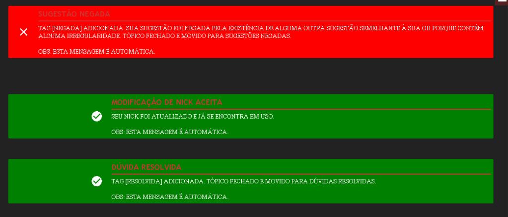 Mensagens moderativas Screen13