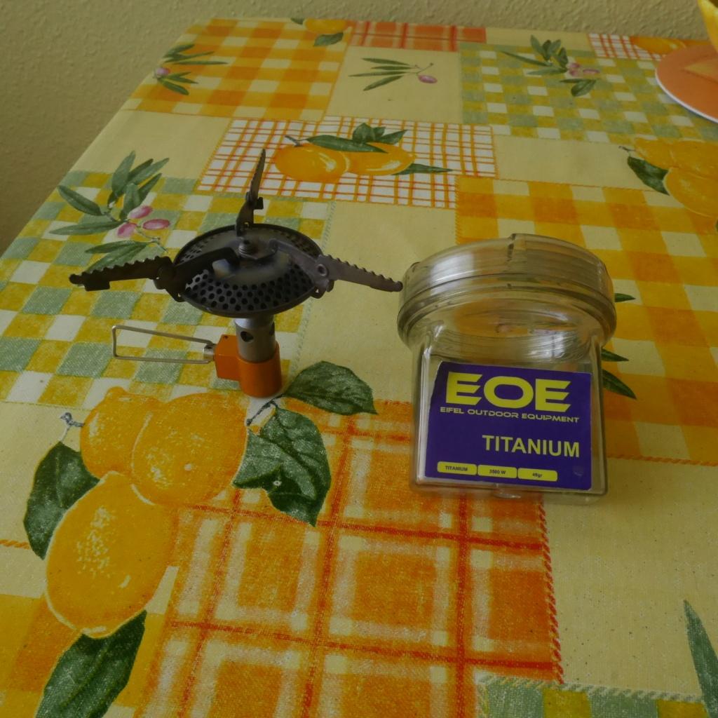 Rechaud à gaz titane de 48 g [Vente annulée] P1000810