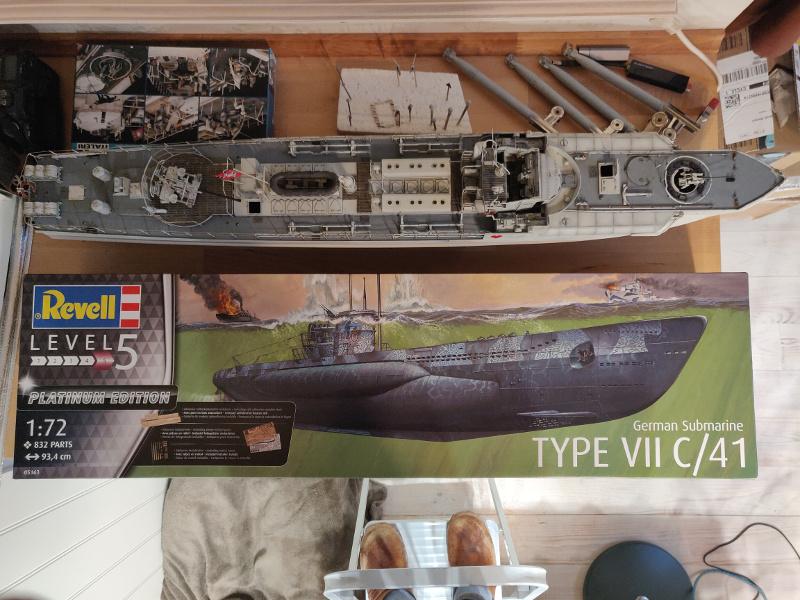 Revue de boîte U-Boat VII C/41 Revell 1/72 édition Platinium Img_3376