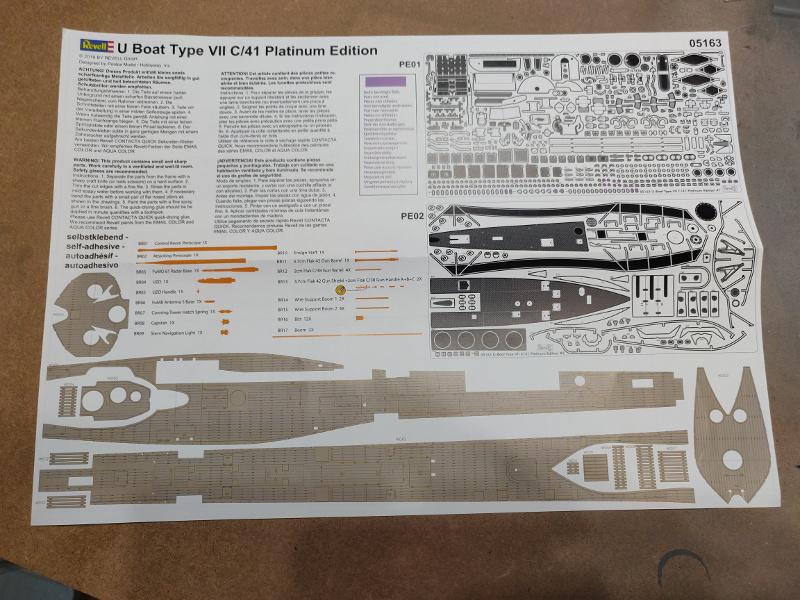 Revue de boîte U-Boat VII C/41 Revell 1/72 édition Platinium Img_3392