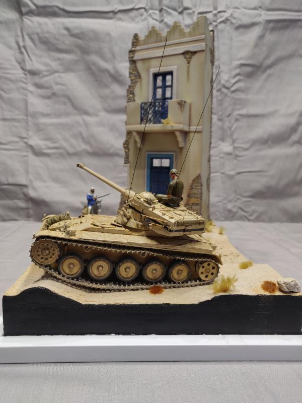 AMX 13/75 opération Mousquetaire Suez 1956 Takom 1/35 + Diorama Terminé Img_4223