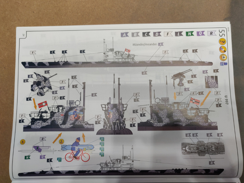 U-Boat VII C/41Revel 1/72 édition PlatiniumU 997 (Terminé) - Page 4 Img_4482