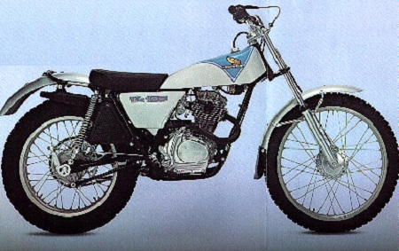 Evolution des : MONOCYLINDRES  HONDA 125  TRIAL Tl125k19