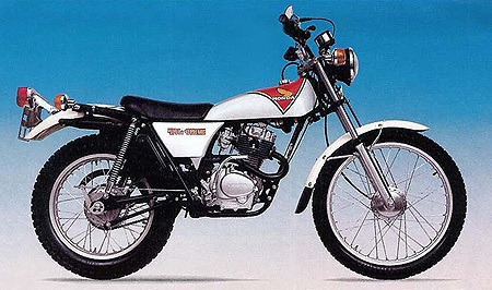 Evolution des : MONOCYLINDRES  HONDA 125  TRIAL Tl125s12