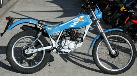 Evolution des : MONOCYLINDRES  HONDA 125  TRIAL Tlr_bl11