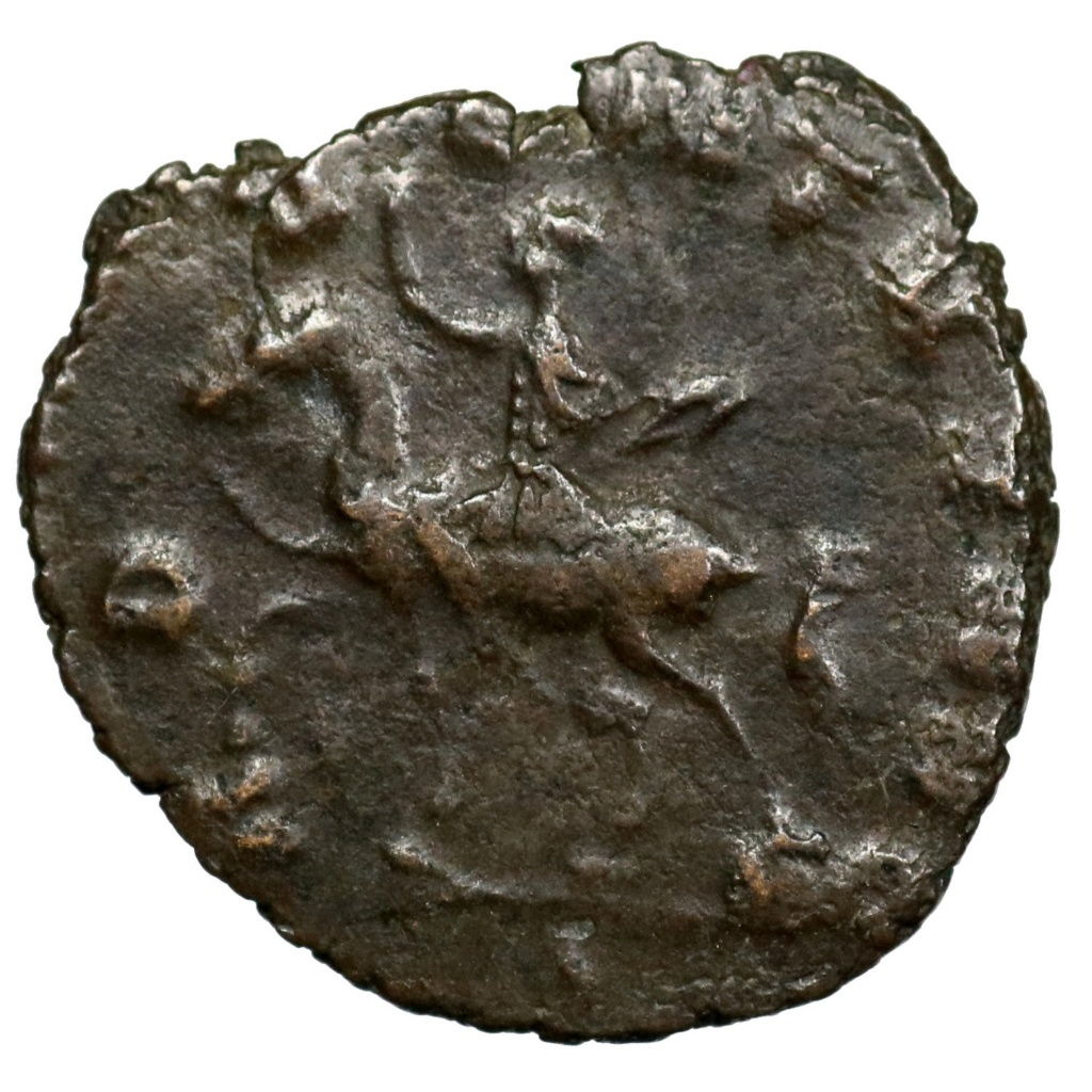 Antoniniano de Claudio II. ADVENTVS AVG. Emperador a caballo a izq. Roma 01387_10