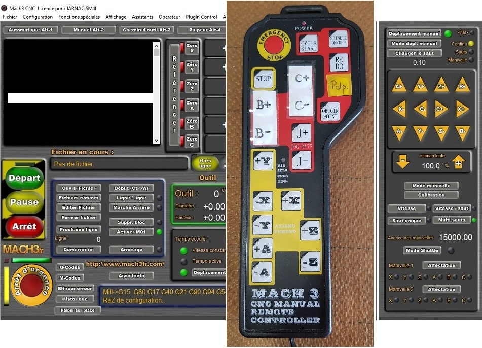 4 Axes handle remote keypad Contrôle pour CNC Fraiseuses Mach3 seulement Captur13