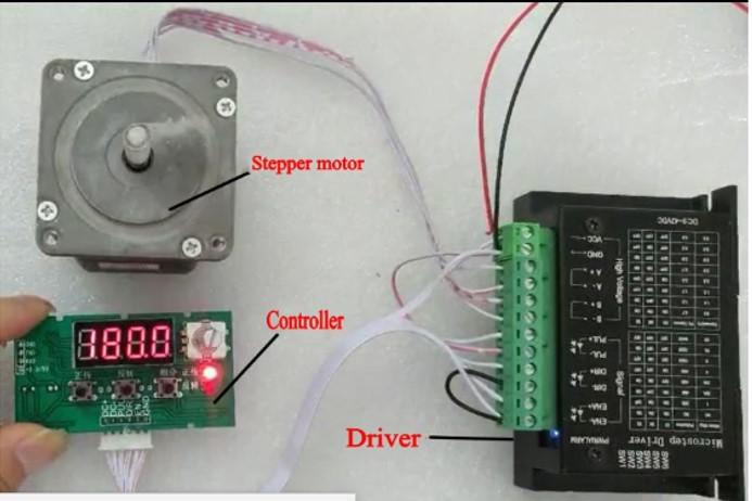 Utilisation simplifiée d'un moteur pas à pas Gi110