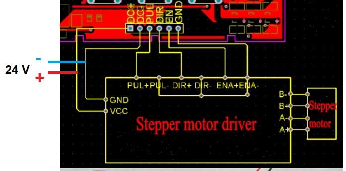 Utilisation simplifiée d'un moteur pas à pas Gi610