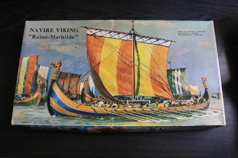 """Navire viking """" Reine Mathilde """" 1/60  ref 890 HELLER Box_ar16"""