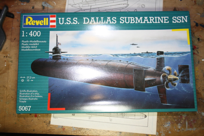 SOUS MARIN NUCLEAIRE USS DALLAS REVELL 1/400 ref 5067 Box_ar43
