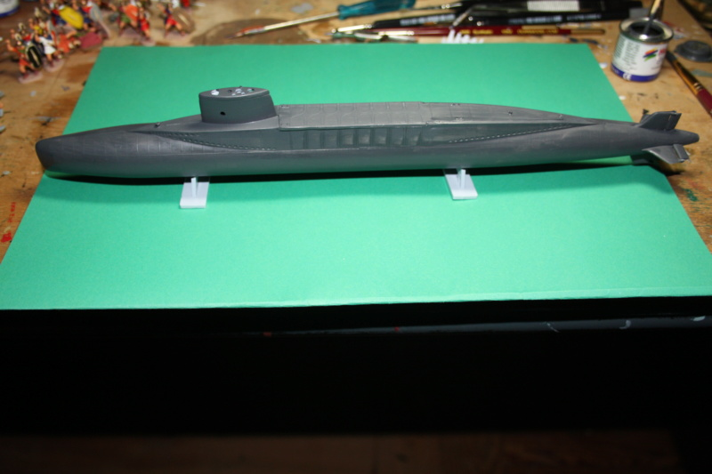 Sous-marin nucléaire lanceur d engins SNLE REDOUTABLE HELLER Réf  KIT 71241 Scratc10