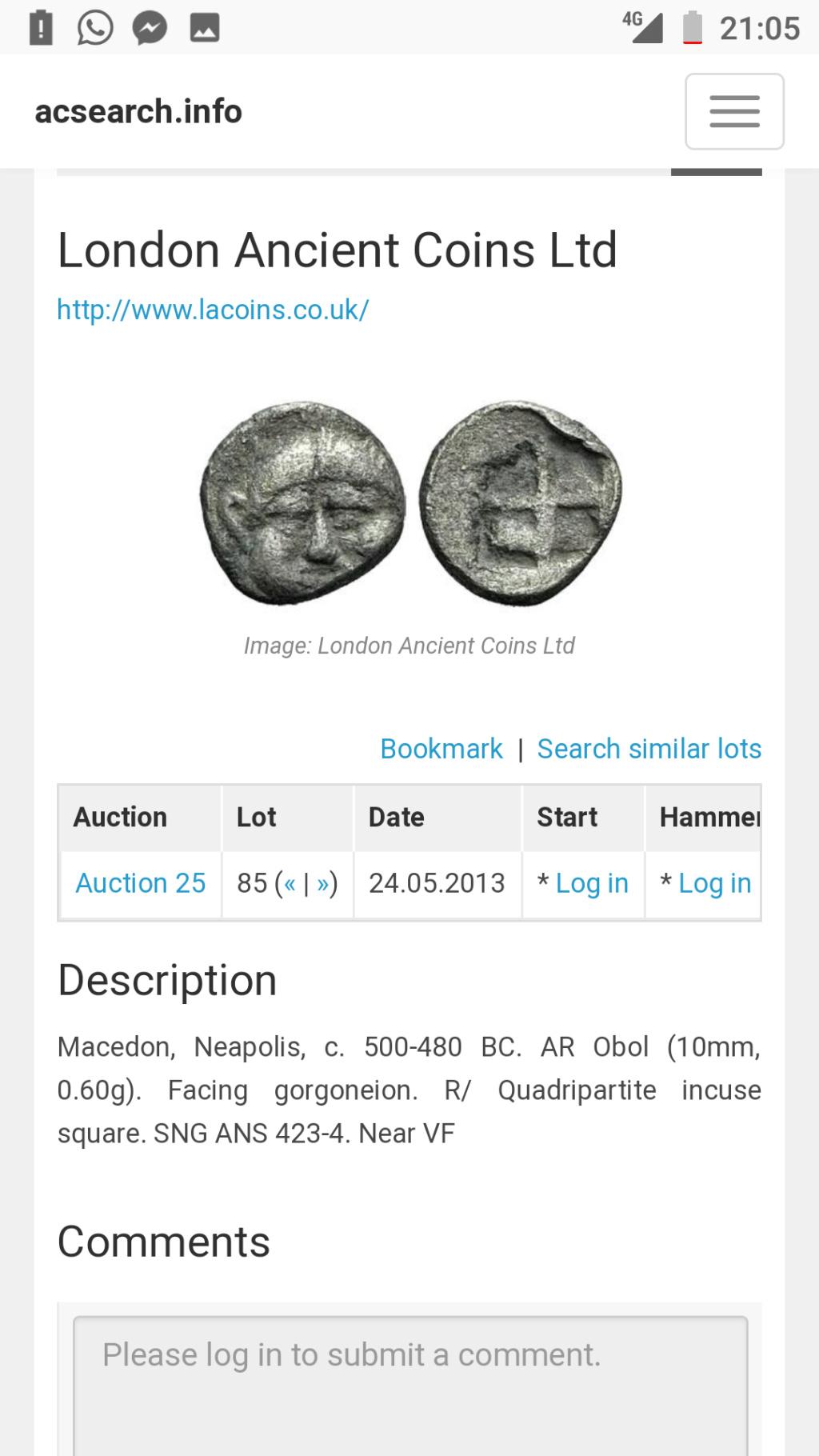 Información sobre moneda posiblemente EMPORITON Screen10