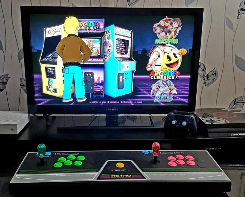 Mon équipement Retro Arcade 20181110