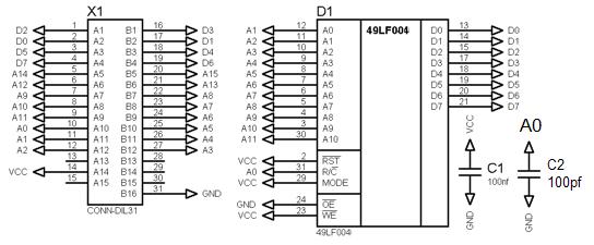Апогей-БК01Ц: Внешнее ПЗУ Rom210