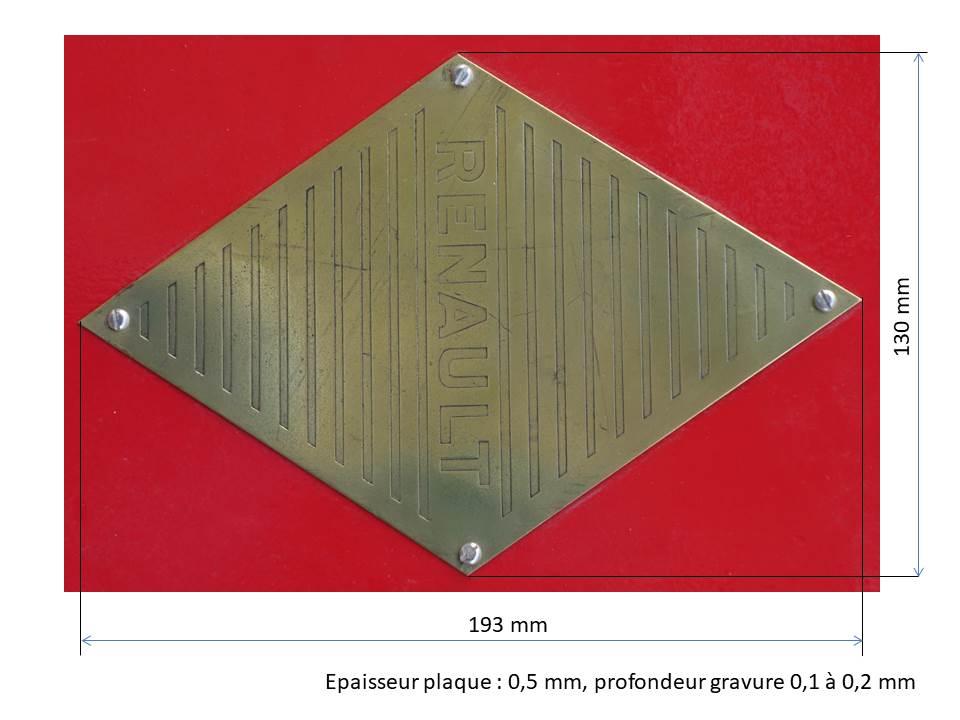 RENAULT - ( recherche ) Plaque laiton RENAULT Logo_r10