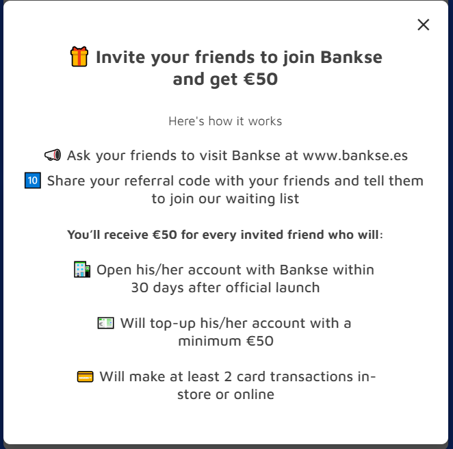 Bankse 20 euro + 50 euro za każde polecenie Bankse10