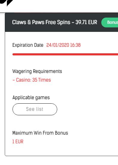 Casino Sinners 50 darmowych obrotów bez depozytu Captur10