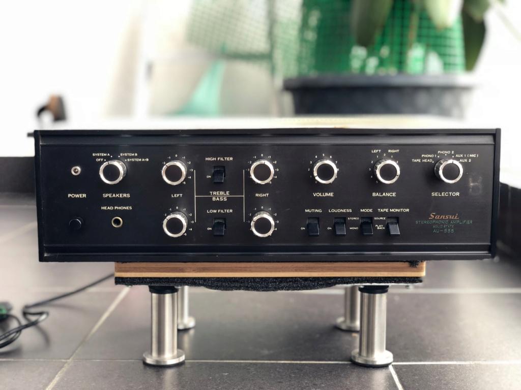 Sansui AU-555 Amplifier (Used) Img_5213