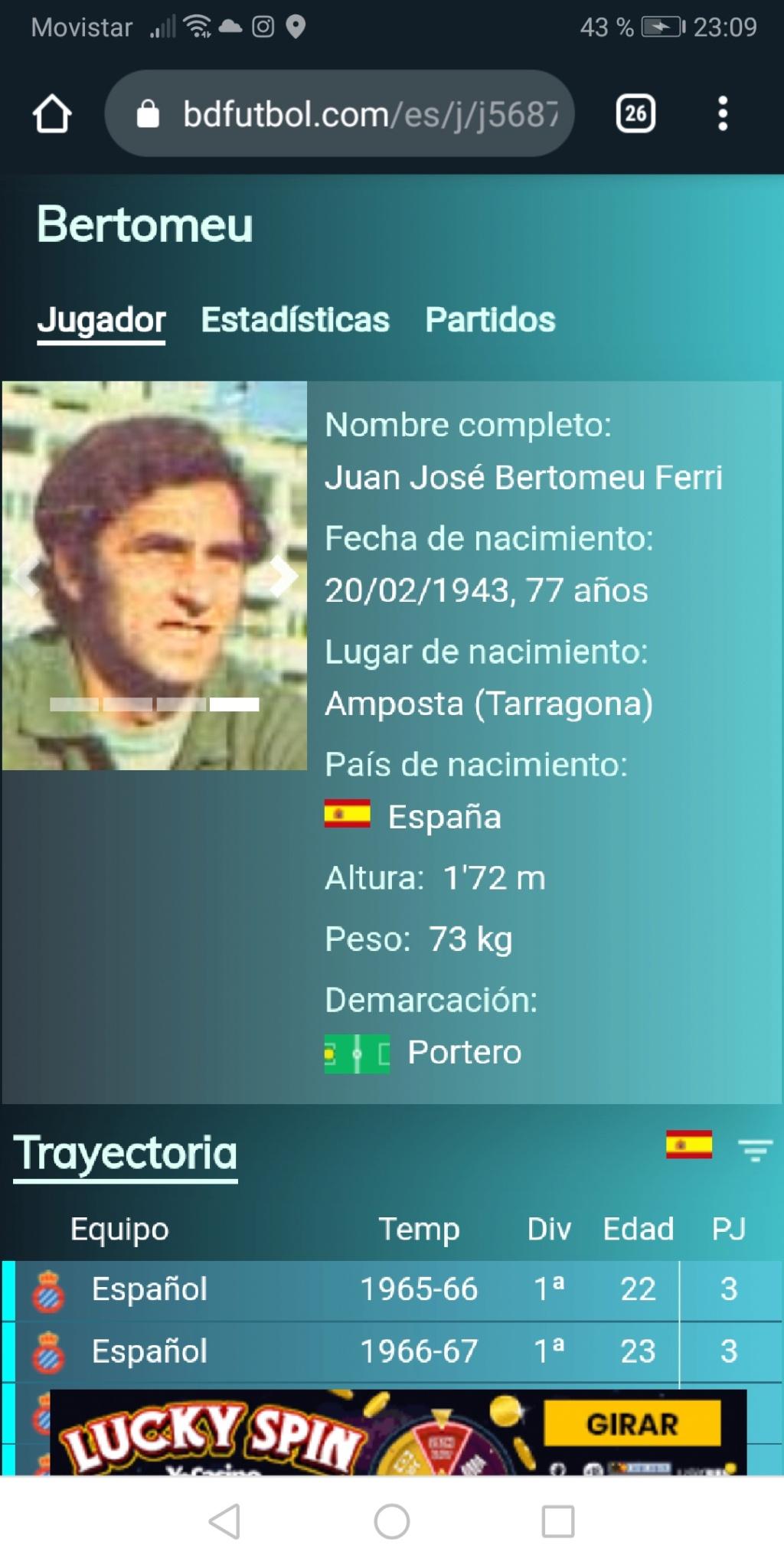 Los porteros más bajos que jugaron en la Liga española (menos de 1,78 metros) Screen90