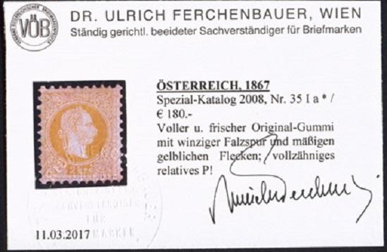 Nachtrag - Freimarken-Ausgabe 1867 : Kopfbildnis Kaiser Franz Joseph I - Seite 23 Ank_3512