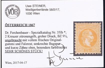 Nachtrag - Freimarken-Ausgabe 1867 : Kopfbildnis Kaiser Franz Joseph I - Seite 23 Ank_3514