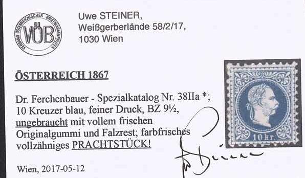 Nachtrag - Freimarken-Ausgabe 1867 : Kopfbildnis Kaiser Franz Joseph I - Seite 22 Ank_3810