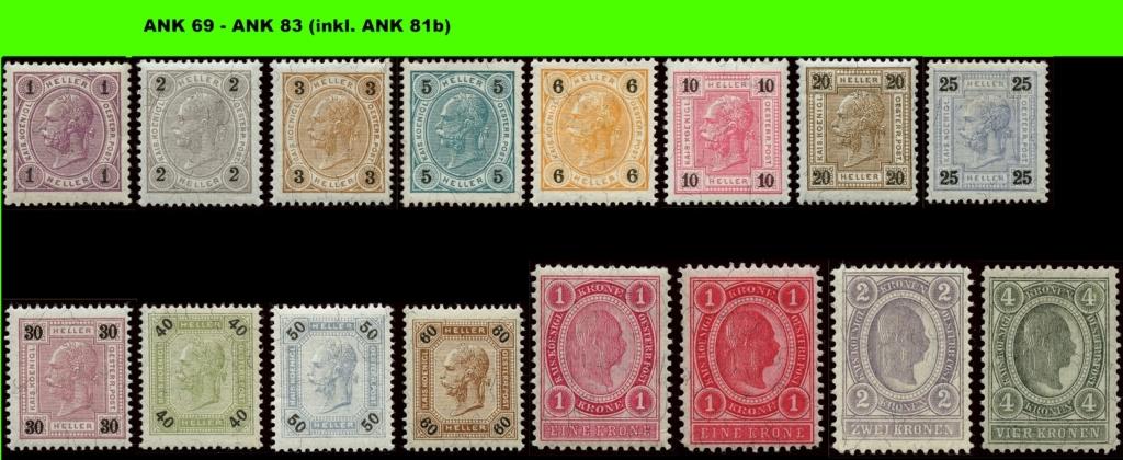 Freimarkenausgabe 1899 Komple10
