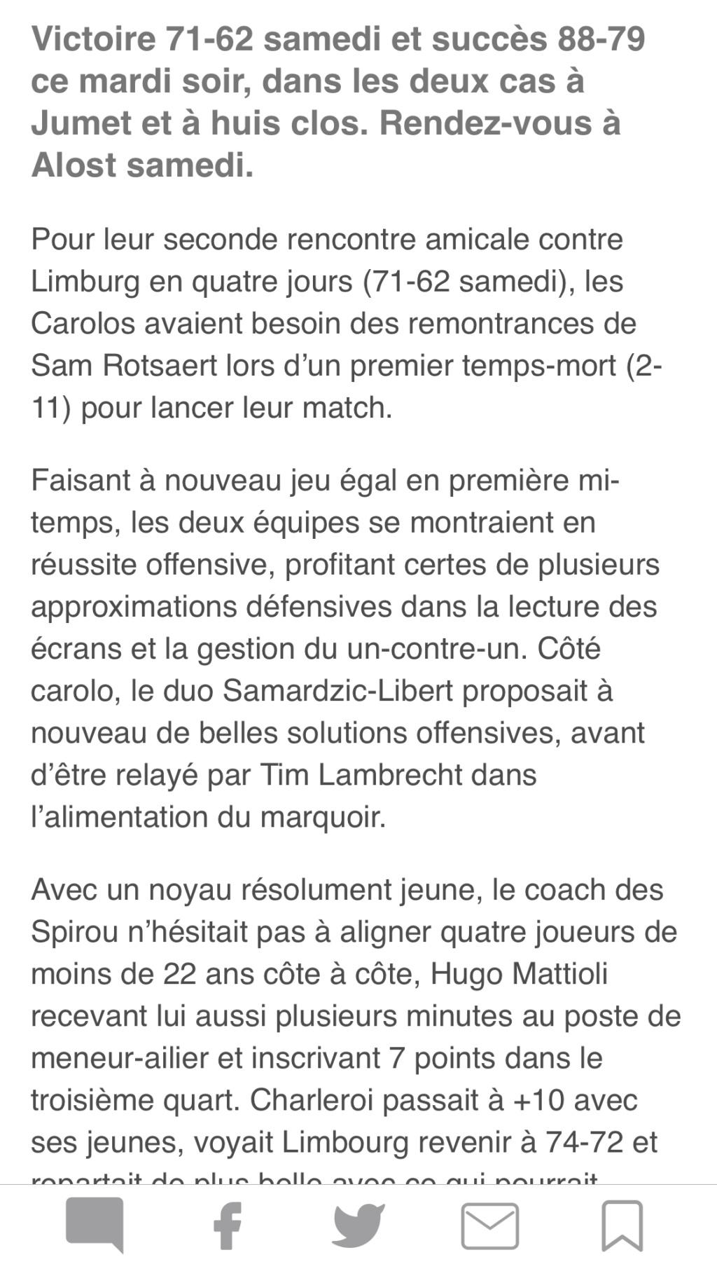 Matchs de préparation : Melco Ieper - Spirou, et les autres - Page 2 B4ee6f10