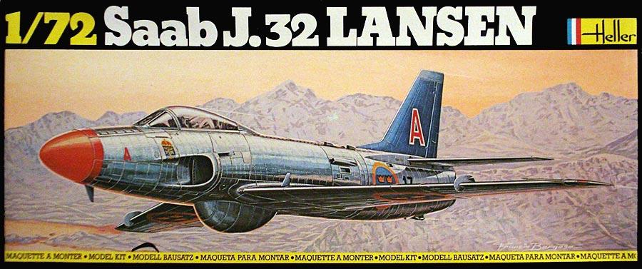 SAAB J32 A/S LANSEN 1/72ème Réf 343 Saab3211