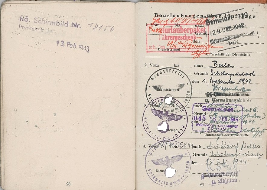 """KommandoBuch"" (1942-1944) 810"