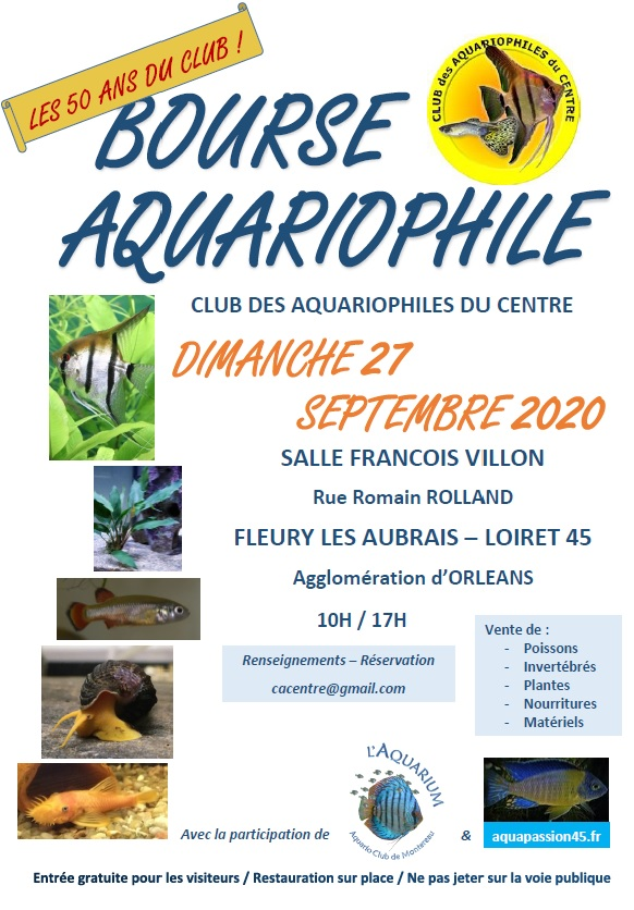 Bourse aquariophile du cinquantenaire Affich10