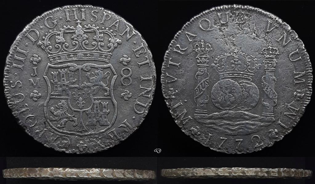 8 Reales 1772, Lima. El último columnario (a volante). 8r_jm-10