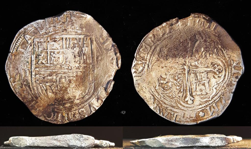 8 reales. México. Felipe II. Ensayador F… y un mapa Def5pe10