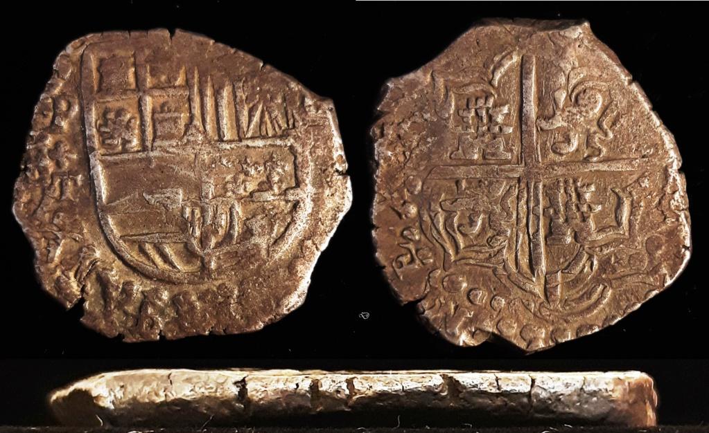 8 reales potosinos. Felipe III... o IV. Ensayador T, año 16...??? V410