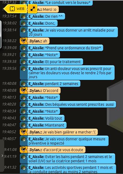 [C.H.U] Rapports d'actions RP de E_Aissile Ra_911