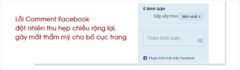 Sửa lỗi khung bình luận Facebook trên website WordPress đột nhiên bị thu hẹp chiều rộng Websit10