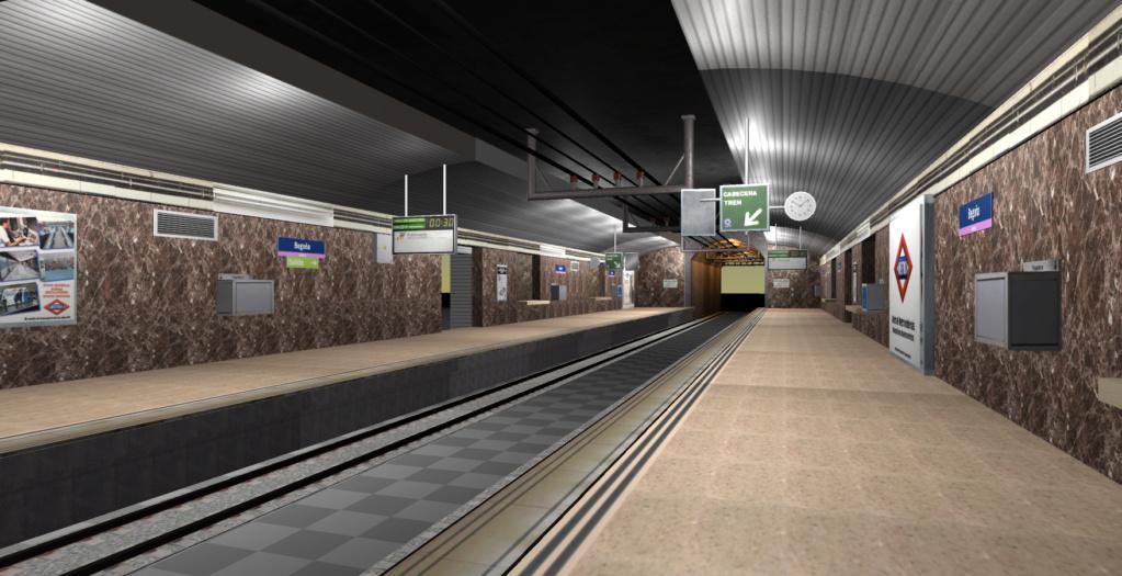 Real Virtual (Metro Madrid) Station Line_810