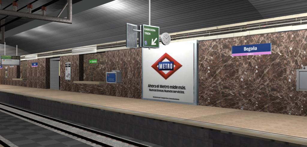 Real Virtual (Metro Madrid) Station Line_812