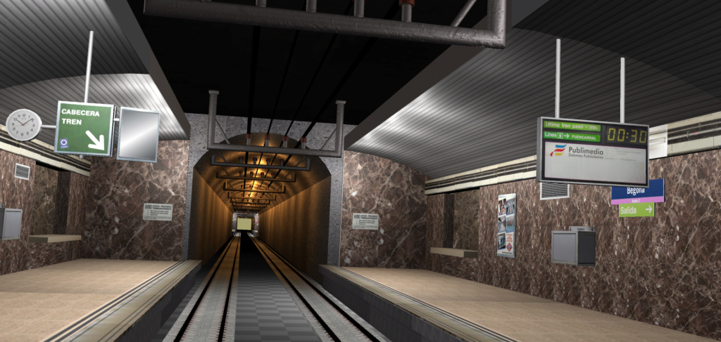 Real Virtual (Metro Madrid) Station Line_813