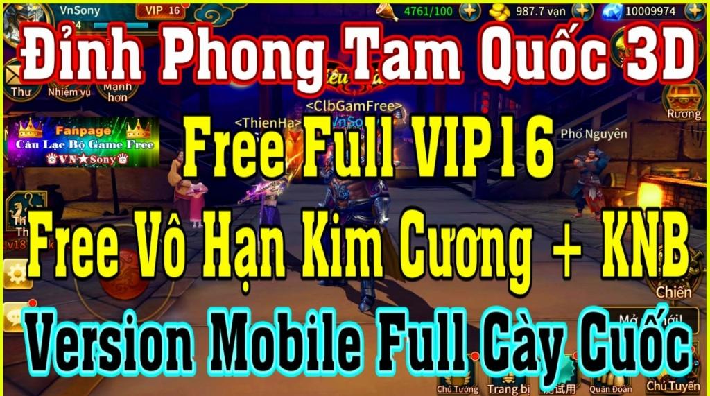 Đỉnh Phong Tam Quốc 3D - Free Full VIP + Vô Hạn Kim Cương  Rv1810