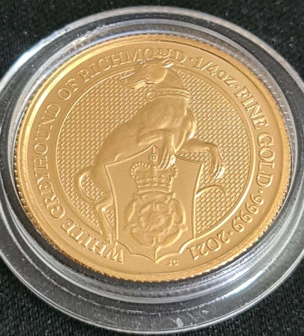 Gold 1/4 oz. BU Queens Beasts, Greyhound   NOW SOLD 20210811