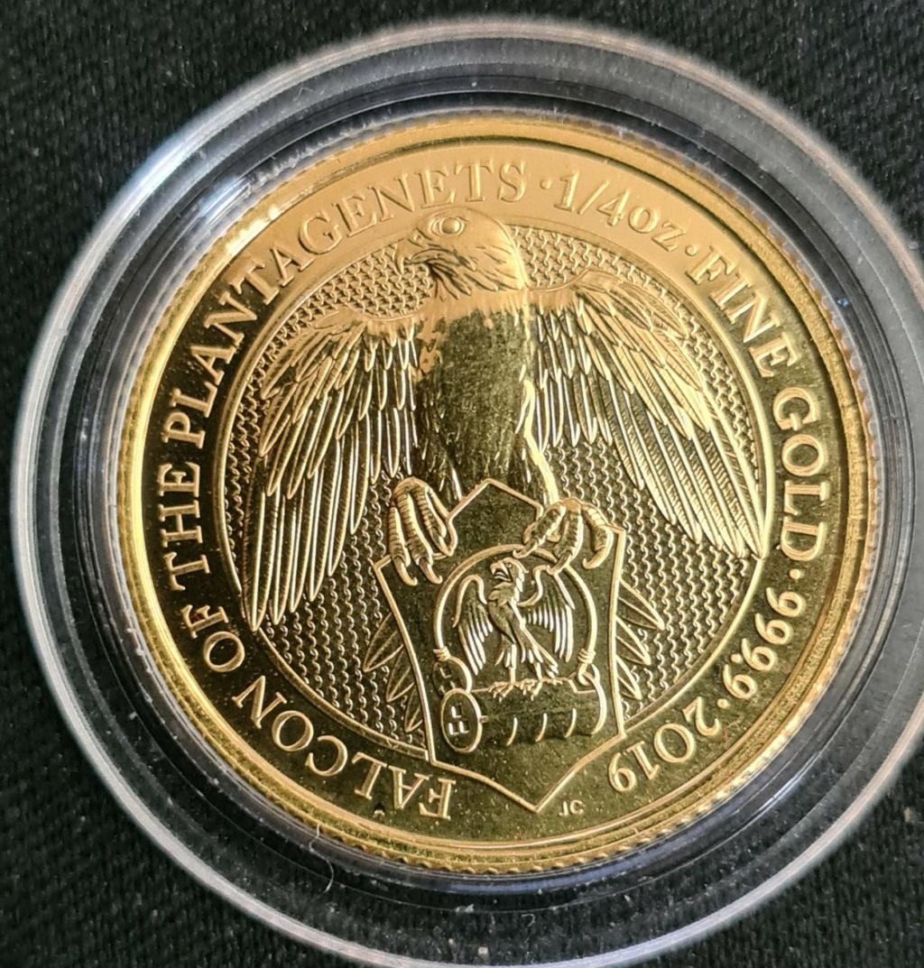 """Gold 1/4 oz. BU Queens Beasts, Falcon """"REDUCED""""  SOLD 20210812"""
