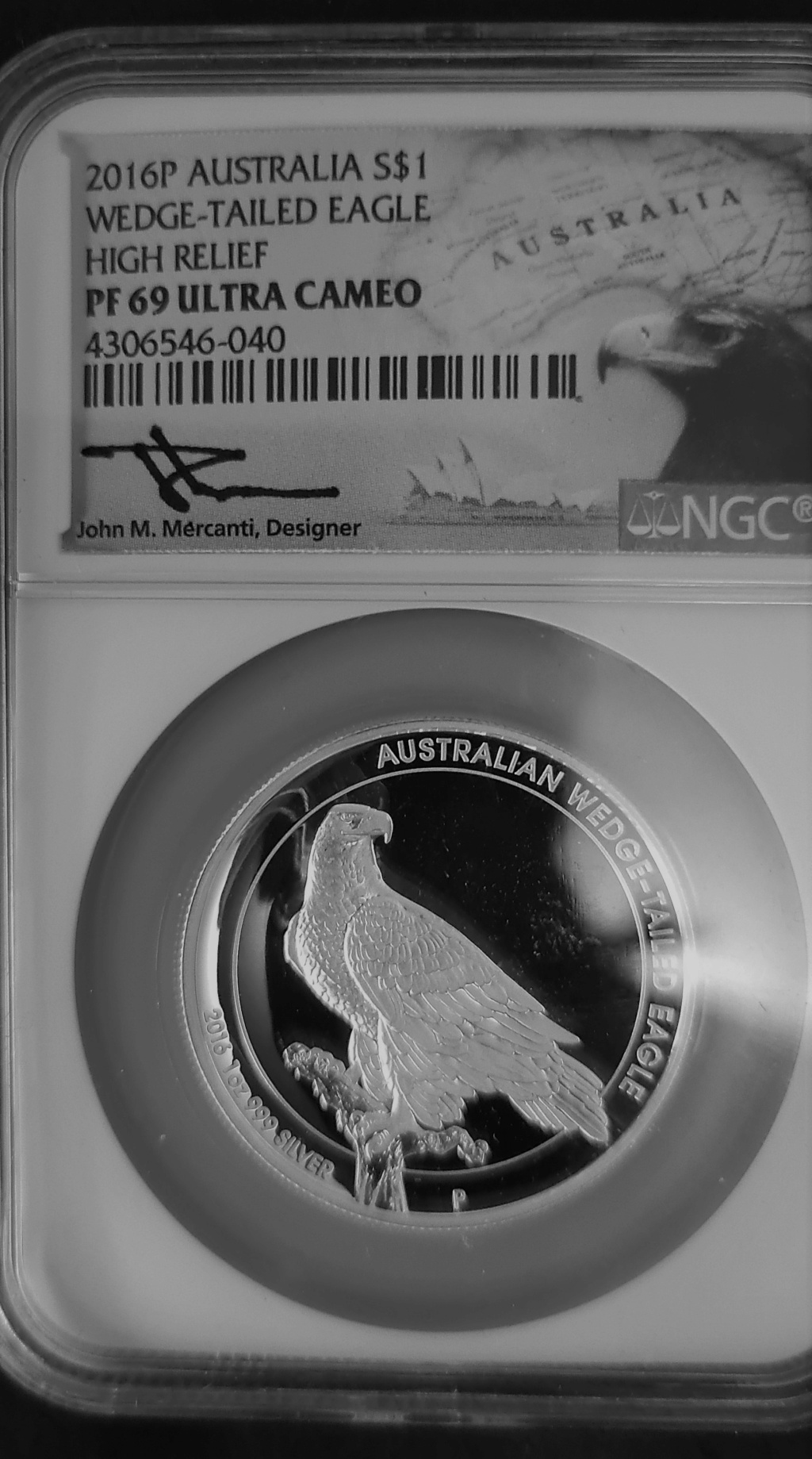 2016 NGC PF69 ULTRA CAMEO WEDGE TAILED EAGLE 1 OZ SILVER COIN high Relief 20211015