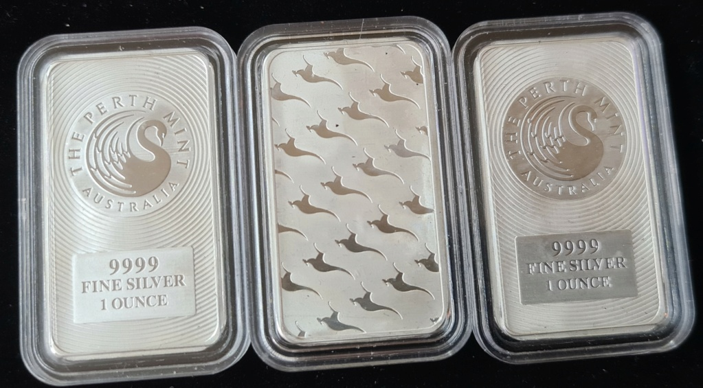 1 oz Minted Silver Kangaroo Bars Silver12