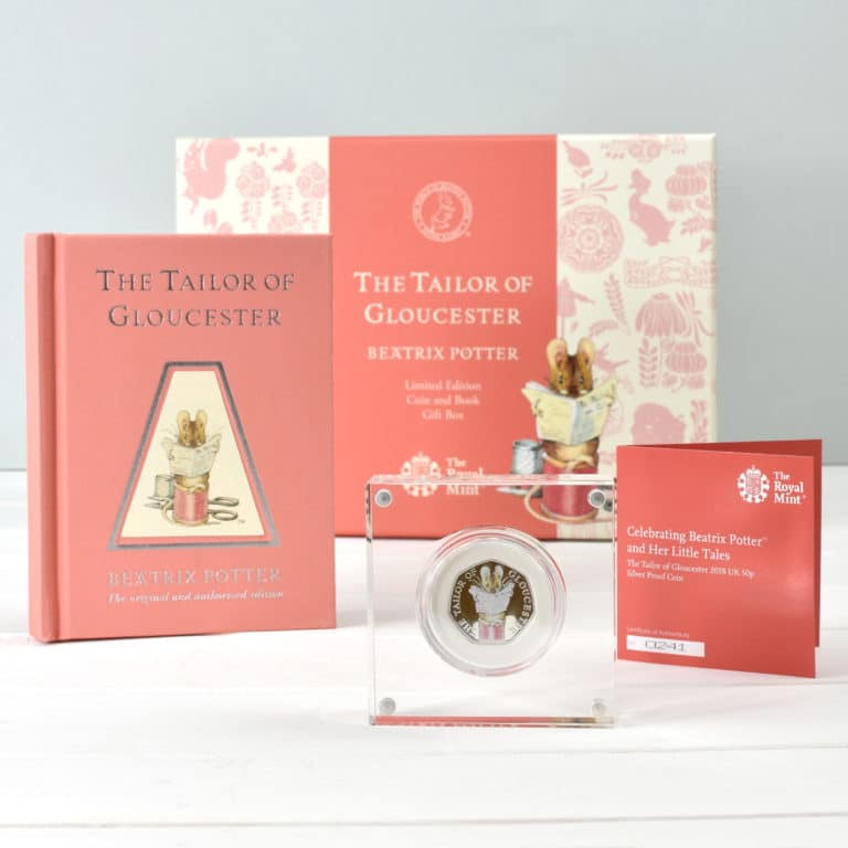 """50p, Beatrix Potter, Coin and Book Set   """"REDUCED PRICE""""  £70 each The-ta10"""